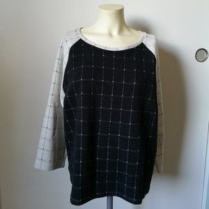 LOFT Pullover Sweater Printed Size XL